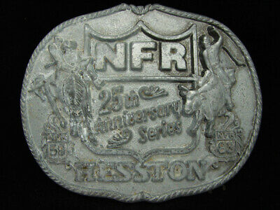 Of11128 Vintage Nfr **1983 National Finals Rodeo** Hesston Collector Belt Buckle