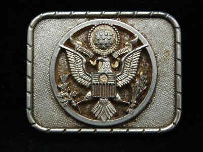 OJ11138 VINTAGE 1970s **SEAL OF THE UNITED STATES OF AMERICA** PATRIOTIC BUCKLE