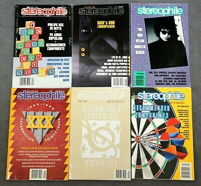 LOT OF 11 Stereophile Magazines 1991-1993 Vintage Audio