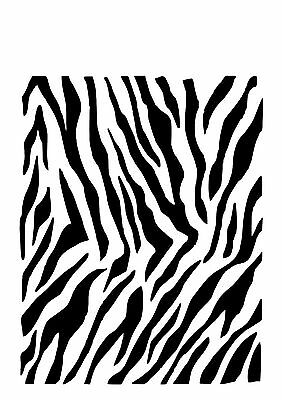 High Detail Zebra Print Airbrush Stencil - Free UK Postage