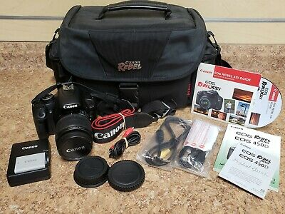 *Canon EOS Rebel XSi / EOS 450D 12.2MP Digital SLR Camera - Black 18-55mm *Used