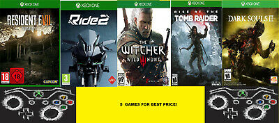 Resident Evil 7 + Ride 2 + Witcher 3 + Tomb Raider + Ds 3 / Offline Profile Xbox