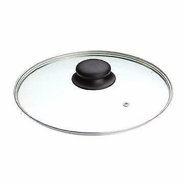 Glass Replacement Lid Tempered Pan Pot Cover Stainless Frying Clear Round