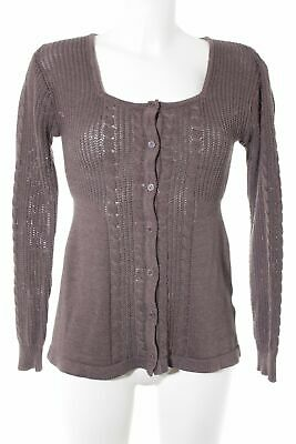 JOE BROWNS Strickjacke hellbraun Zopfmuster Casual-Look Damen Gr. DE 36 Knitwear