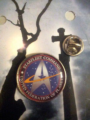 UNITED FEDERATION OF PLANETS STARFLEET COMMAND 25mm  large BADGE STARTREK