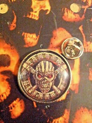 EDDIE quality large BADGE IRON MAIDEN BOOK OF SOULS