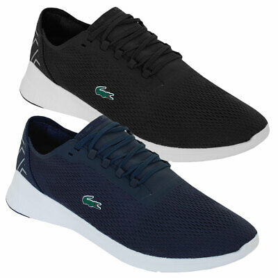 6ce01727be00e LACOSTE MENS 2019 LT Fit 119 1 SMA Textile Synthetic Lace Up Trainers