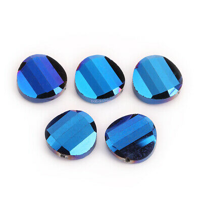 Crystal 10pcs18mm  Glass Round Flat Spacer Loose Beads Jewelry Design New