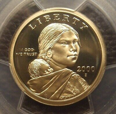 2000 S Deep Cameo Proof Sacagawea Dollar, Great Detail, Pcgs Graded Pr69Dcam