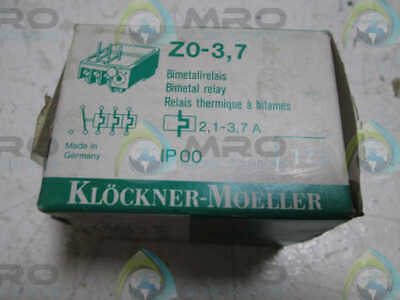 Klockner-Moeller Z0-3,7 Overload Relay * New In Box *