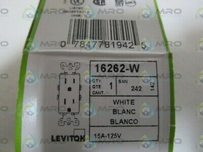 Leviton White Receptacle 16262-W * New In Box *