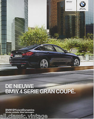 BMW - 4 Serie Gran Coupe prospekt/brochure/folder Dutch 2014