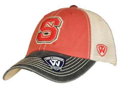half off 076a3 3760a NC State Wolfpack Top of the World Red Black Offroad Adj Snapback Hat Cap