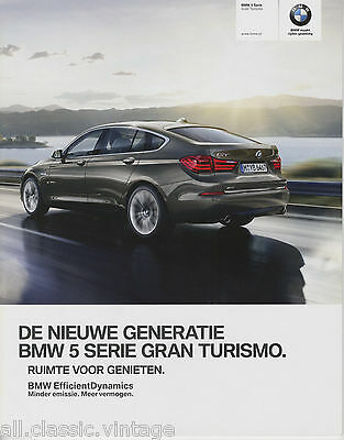 BMW - 5 Serie Gran Turismo prospekt/brochure/folder Dutch 2013
