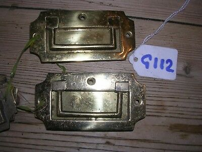 Pair Of Brass Inset Handles (G112)