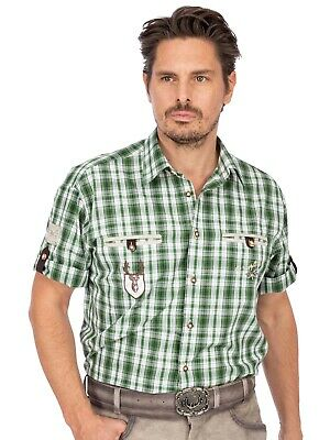 Orbis Traditional Shirt Checked Mix short Sleeve Eddi Green Green