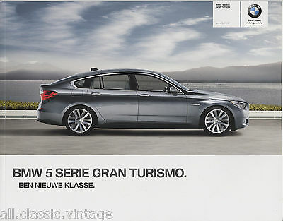 BMW - 5 Serie Gran Turismo prospekt/brochure/folder Dutch 2009
