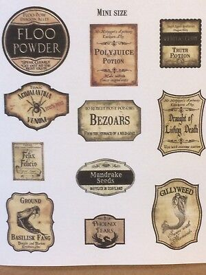 Harry Inspired, Miniature Wizard Potion Labels/Sticker Sets