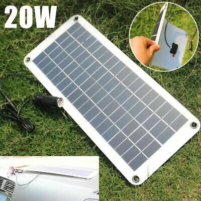 12V 20W Car Boats Yacht Solar Panel Trickle Battery Charger Outdoor Power Supply