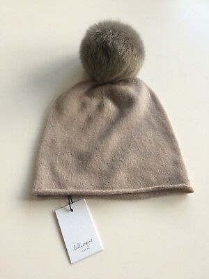 BELLE ENFANT - HAT WITH SHEARLING POMPOM - Size 5-6 years - NWT