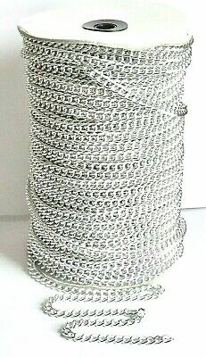 Curb Link CHAIN 7mm x 6mm -  Silver Tone - 2, 3 or 5 Metres