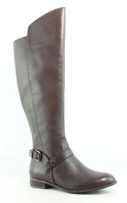4678f1c5e93 ANNE KLEIN WOMENS Kahlan Quilted Leather Black Riding Boots Size 5.5 ...