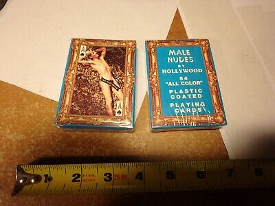 NOS deck of 54 male nudes by hollywood plastic coated-still sealed