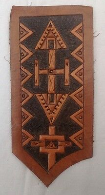 Native American Indian Style Leather Carving