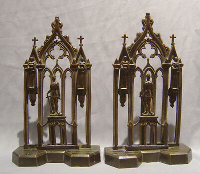 Beautiful Pair antique late English Regency Gothic letter racks