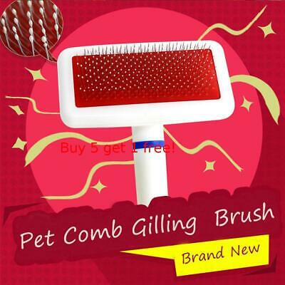 Dog Puppy Cat Pet Hair Shedding Trimmer Comb Brush Slicker Rake Tools