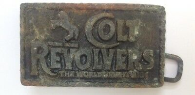 Colt Revolvers Belt Buckle Style Plaque Display Vintage American Retro Classic