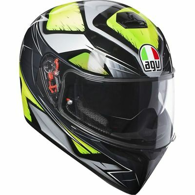 Casco Integrale Agv K3 K-3 Sv Multi - Liquefy Grey - Yellow Fluo  Taglia M/s