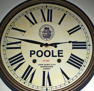 London & South Western Railway Style Clock, for Poole Station, Dorset.