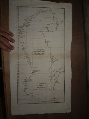 1788 A New Chart Of The Caspian Sea D'anville Map Russia Azerbaijan Baku Kazakh