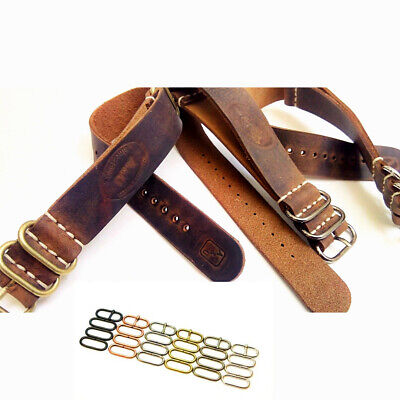Leather Strap, Military Army Watch Band for Omega Handmade, AMMO style Gift Man
