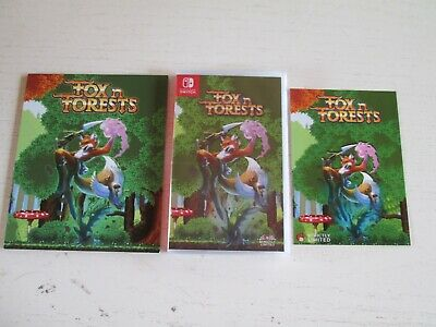 FOX N FORESTS (Nintendo Switch). Brand New. Mint + Aluminum Art Card Plate.