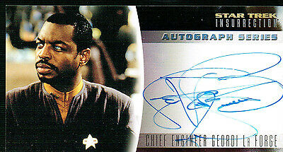 Star Trek Insurrection Autograph Card A5 Laforge