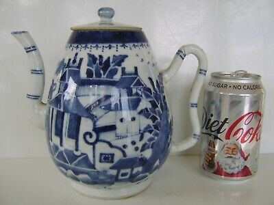 LARGE Chinese Very old Antique Teapot tea pot 4 CHARACTER MARK TO BASE