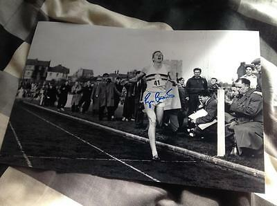 Sir Roger Bannister Hand Signed 12 X 8 Photo The 4 Four Minute Mile With Coa