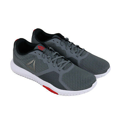 Reebok Flexagon Force Mens Gray Textile Low Top Lace Up Sneakers Shoes