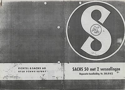 Repair/Manual/Technical Info Sachs 50 Instruction Manual 310.8 H/2 Reprint