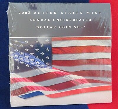 2008 US Mint Annual Uncirculated Dollar Coin Set w/ Silver Eagle unopened