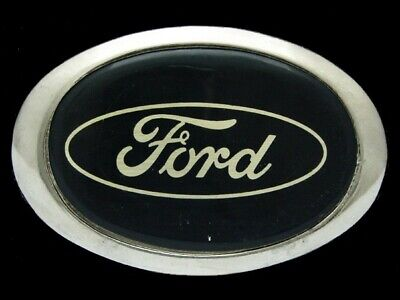 NI05113 VINTAGE 1970s **FORD** MOTOR COMPANY AUTO/CAR SILVERTONE BELT BUCKLE