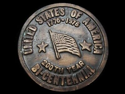 Lg21141 Vintage 1976 **United States Of America 1776-1976** Bicentennial Buckle