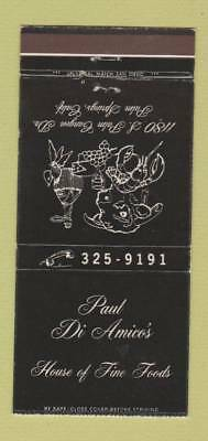 Matchbook Cover - Paul Di Amico's Restaurant Palm Springs CA 30 Strike