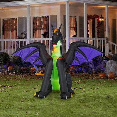 6' Flaming Mouth Dragon Halloween Airblown Inflatable Lighted Outdoor Yard Prop