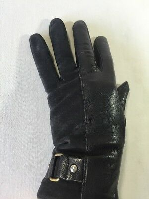 Vintage Fownes Gloves Women's Black Leather XL