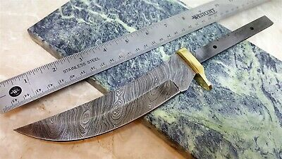 Hidden Tang Damascus Steel Knife Makers Upswept blade blank DIY