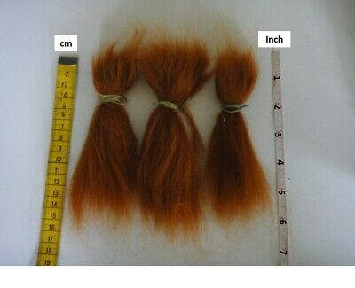 MOHAIR for rooting- REBORN Doll making supplies 20g  (0.7 oz) carrot