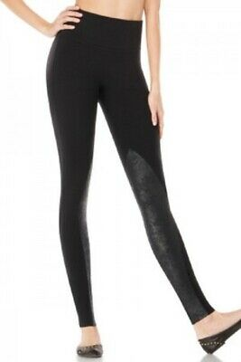 db8af080118a09 SPANX READY TO WOW Women's High Rise Poly spandex Leggings Black Sparkle  Size MD